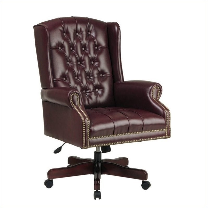 High Back Executive Office Chair in Ox Blood
