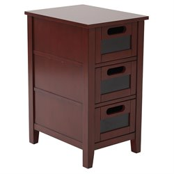 Office Star OSP Designs Accent Table in Vintage Wine