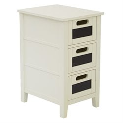 Office Star OSP Designs Accent Table in Cream