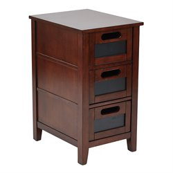 Office Star OSP Designs Accent Table in Saddle