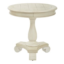 Office Star Inspired by Bassett Round Pedestal Table in Antique Beige