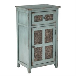 Office Star Inspired by Bassett Accent Table in Aquamarine