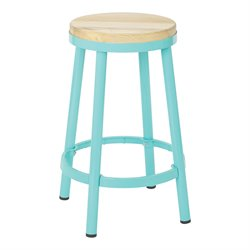 Office Star OSP Designs Backless Counter Stool in Mint-NN
