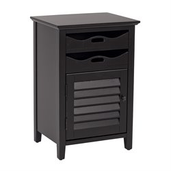 Office Star OSP Designs Accent Table in Brush Black