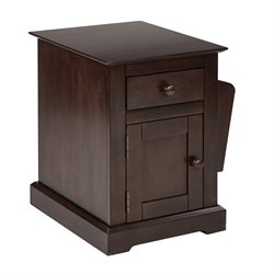 Office Star OSP Designs Accent Table in Walnut