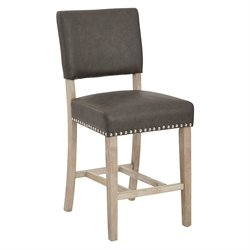 Office Star Ave Six Counter Stool in Elite Pewter