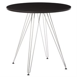 Office Star Ave Six Dining Table in Black
