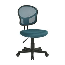 Office Star OSP Designs Mesh Back Desk Chair in Blue