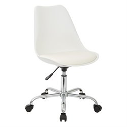 Office Star Ave Six Desk Chair in White