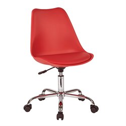 Office Star Ave Six Desk Chair in Red