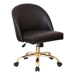 Office Star Work Smart and Ave Six Mid Back Desk Chair in Black