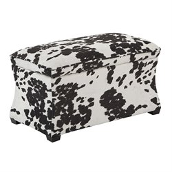 Office Star Ave Six Storage Ottoman in Udder Madness