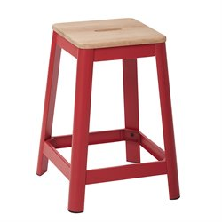 Office Star Work Smart and OSP Designs Barstool in Frosted Red-KK