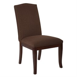 Office Star Ave Six Dining Chair in Klein Chocolate