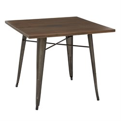 Office Star OSP Designs Metal Accent Table in Walnut