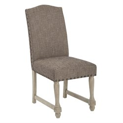 Office Star Ave Six Dining Chair in Edward Chocolate
