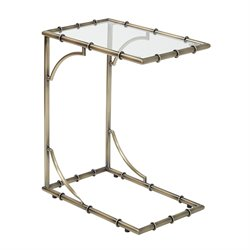 Office Star OSP Designs End Table in Antique Brass