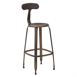 Office Star OSP Designs Metal Barstool in Antique Copper (Set of 2)