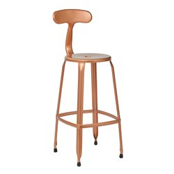 Office Star OSP Designs Metal Barstool in Copper (Set of 2)