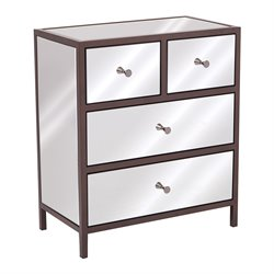 Office Star OSP Designs Accent Chest in Mirrored