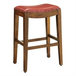 Office Star OSP Designs Counter Stool in Cranberry-ZZ