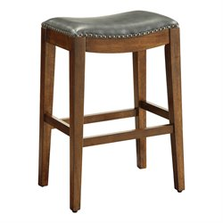 Office Star OSP Designs Bar Stool in Pewter