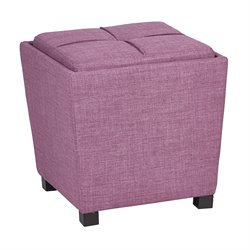 Office Star OSP Designs Tray Top Ottoman in Milford Dahlia