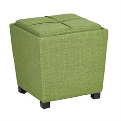 Office Star OSP Designs Tray Top Ottoman in Milford Grass