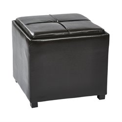 Office Star OSP Designs Tray Top Ottoman in Espresso