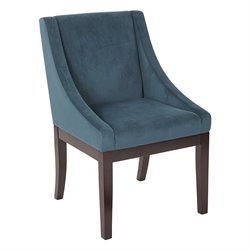 Office Star Ave Six Wingback Accent Chair in Azure