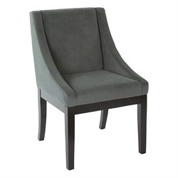 Office Star Ave Six Wingback Accent Chair in Graphite