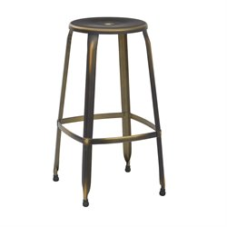 Office Star OSP Designs Bar Stool in Antique Copper (Set of 2)