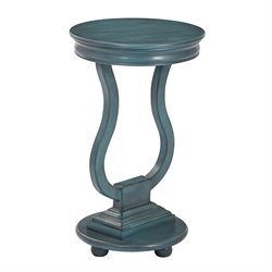Office Star OSP Designs Pedestal Table in Caribbean Blue