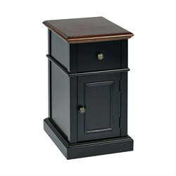 Office Star OSP Designs Accent Table in Black Two Tone