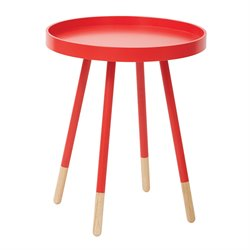 Office Star OSP Designs Accent Table in Red