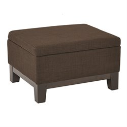 Office Star Ave Six Tray Top Storage Ottoman in Milford Java