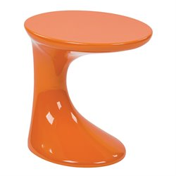 Office Star Ave Six Accent Table Slick Accent Table in Orange