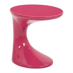 Office Star Ave Six Accent Table Slick Accent Table in Pink