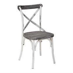 Office Star Work Smart and OSP Designs Dining Chair in Antique White