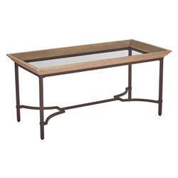 Office Star OSP Designs Coffee Table in Light Pine