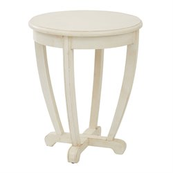 Office Star OSP Designs Tifton Round Accent Table in Cream
