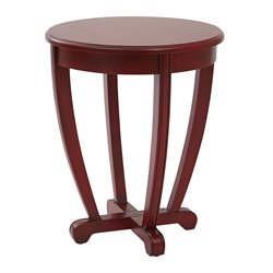 Office Star OSP Designs Tifton Round Accent Table in Red