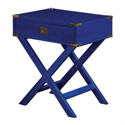 Office Star OSP Designs End Table in Lapis Blue