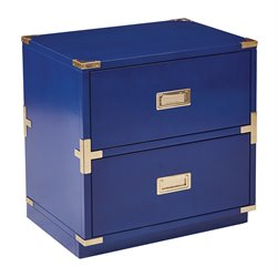 Office Star OSP Designs 2 Drawer Filing Cabinet in Lapis Blue