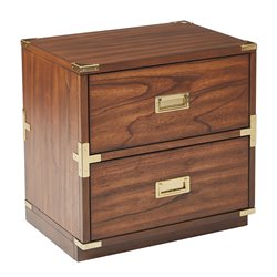 Office Star OSP Designs 2 Drawer Filing Cabinet in Toasted Wheat