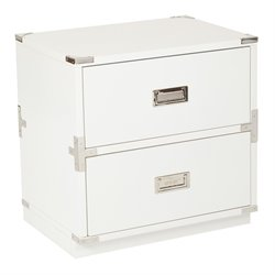 Office Star OSP Designs 2 Drawer Filing Cabinet in White