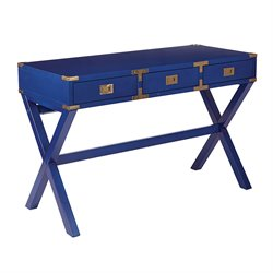 Office Star OSP Designs Home Office Desk in Lapis Blue