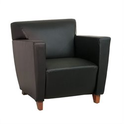 Leather Club Chair in Black