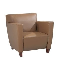 leather club chair in tan - Brown Leather Club Chair