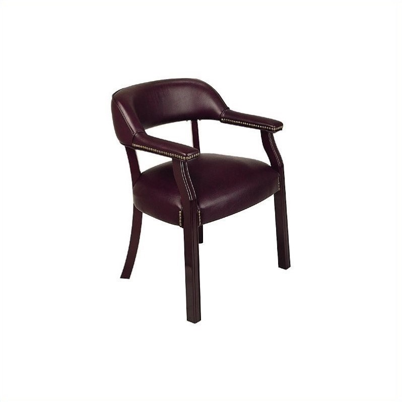 Traditional Guest Chair in Oxblood